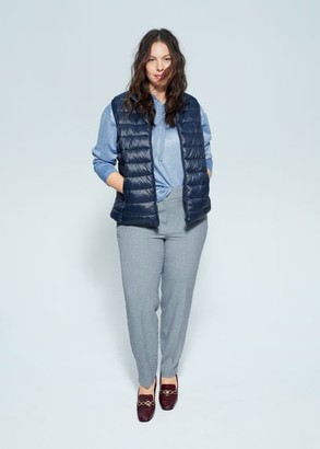 MANGO Violeta BY Quilted zipper gilet dark navy - S - Plus sizes