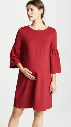 Ingrid & Isabel Ponte Bell Sleeve Maternity Dress