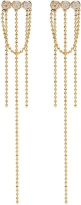 Xiao Wang Elements' diamond 14k gold bead chain earrings