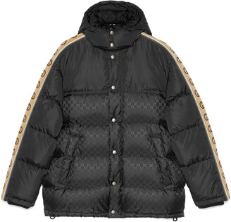 Gucci GG jacquard nylon padded coat