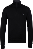 Lacoste Black Ribbed Funnel Neck Sweater