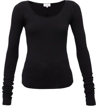 Lemaire Scoop-neck Jersey Top - Womens - Black