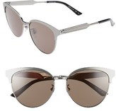 Gucci Women's 57Mm Retro Sunglasses - Black/ Grey