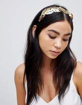 Asos Statement Palm Leaf Headband