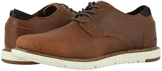 Toms Navi Oxford (Brushwood Leather) Men's Shoes