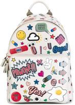 Anya Hindmarch 'All Over Wink Stickers' backpack - women - Cotton/Calf Leather/Leather - One Size