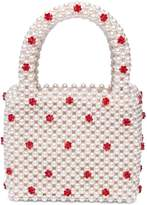 Shrimps Dolly Faux Pearl Crystal Tote