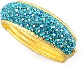 Jose & Maria Barrera Pave Crystal Cuff, Light Blue