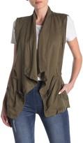 Max Jeans Drape Front Tencel Vest