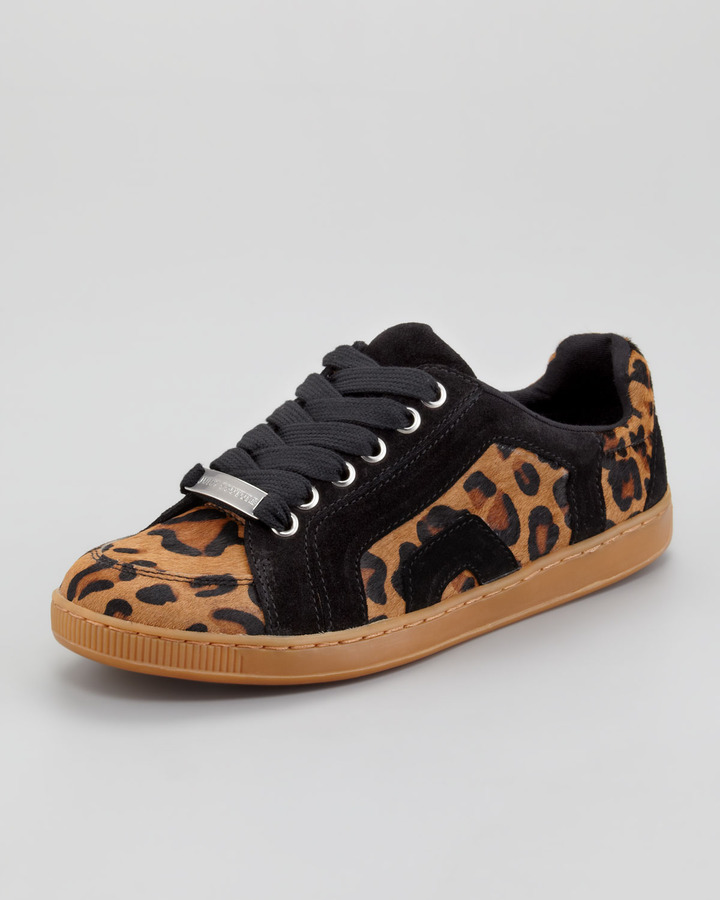 Juicy Couture Darien Leopard-Print Calf Hair Sneaker