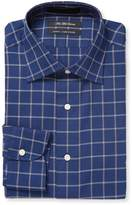Saks Fifth Avenue Men's Windowpane Slim Fit Cotton Dress Shirt
