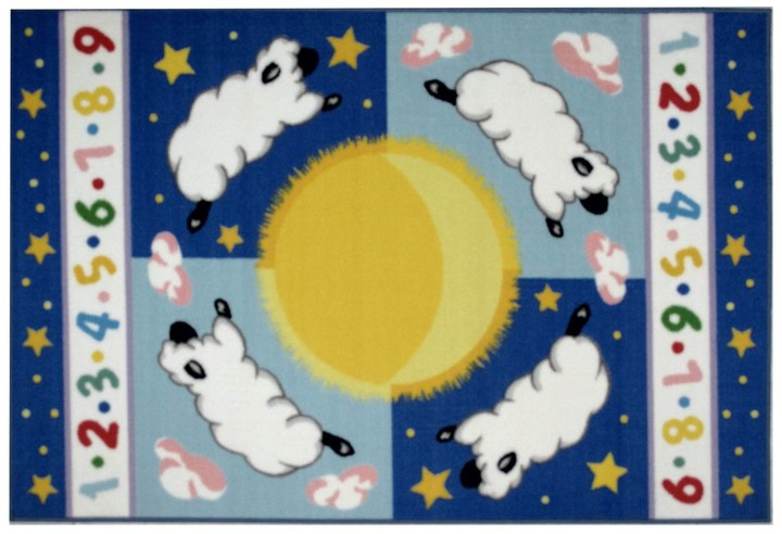 Fun Rugs Olive Kids Sleepy Sheep Rug