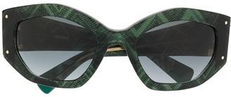 Missoni Oversized Geometric Sunglasses