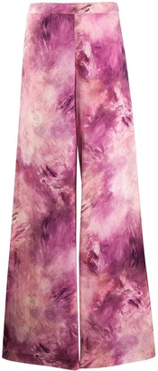 Moschino Tie-Die Palazzo Trousers