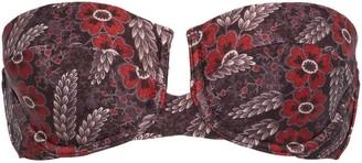 Zimmermann Bayou Floral-print Bandeau Bikini Top