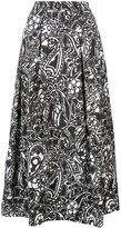 Oscar de la Renta paisley midi skirt - women - Silk/Nylon/Polyester - 4