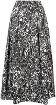 Oscar de la Renta paisley midi skirt - women - Silk/Nylon/Polyester - 6