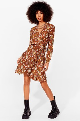 Nasty Gal Womens Growing Through the Motions Mini Dress - Beige - 8