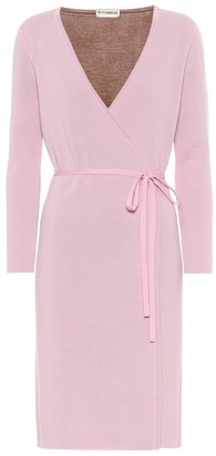 Diane von Furstenberg Mylene stretch-wool wrap dress