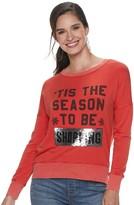 "Rock & Republic Women's Tis The Season"" Reversible Sequin Pullover"