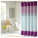 Nobrand No Brand Bailey Striped Print Microfiber Shower Curtain - Purple