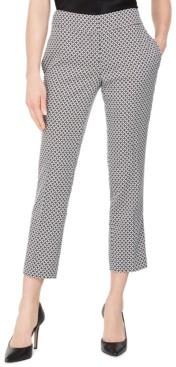 Kasper Circle Jacquard Slim Ankle Pants