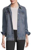 A.N.A Womens Oversized Trucker Denim Jacket