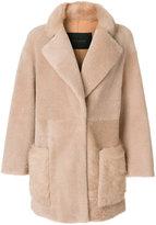 Blancha - fur coat - women - Leather/Merino - 42