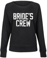 Black 'Brides Crew' Slouchy Pullover - Women