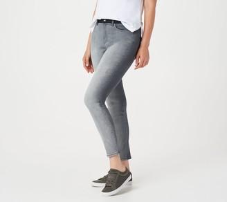 Isaac Mizrahi Live! Regular TRUE DENIM Skinny Ankle Two-Tone Jeans