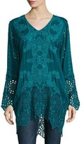 Johnny Was Lona Long Embroidered Tunic, Petite