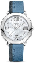 Fendi Selleria Stainless Steel Watch with Diamonds, 36mm