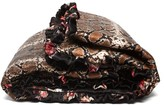 Preen by Thornton Bregazzi Floral And Snakeskin-print Silk Eiderdown - Womens - Black Multi