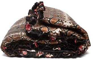 Preen by Thornton Bregazzi Floral And Snakeskin-print Silk Eiderdown - Black Multi