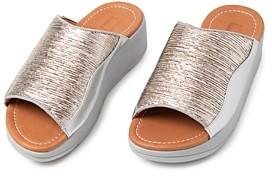 FitFlop Women's Myla Metallic Slide Sandals