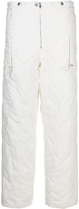 Christian Wijnants Pavani quilted straight-leg trousers