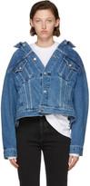 Balenciaga Blue Swing Denim Jacket