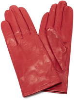 Maison Fabre Red Floods Leather Gloves