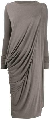 Rick Owens Lilies draped knit maxi dress