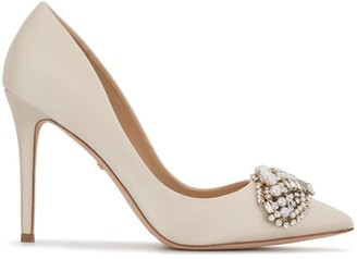 Badgley Mischka Olga embellished pumps