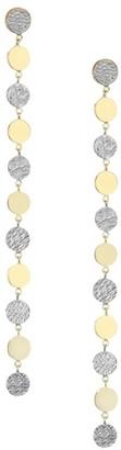 Jennifer Zeuner Jewelry 2-Piece Benita 14K Two Tone Linear Earrings