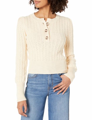 ASTR the Label Women's Aspen Long Sleeve Cable Knit Sweater Top