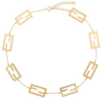 Fendi Zucca motif chain-link choker