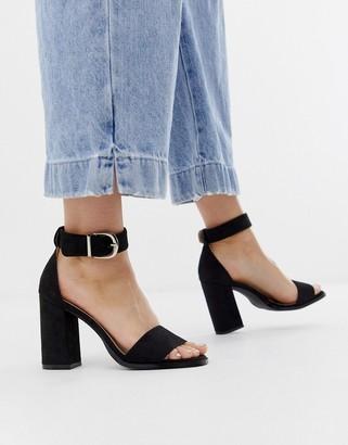 Raid Fleur black block heeled sandals