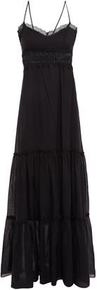 Charo Ruiz Ibiza Crocheted Lace-trimmed Cotton-blend Voile Maxi Dress
