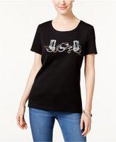 Karen Scott Rodeo Graphic T-Shirt, Only at Macy's