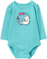 Gymboree Blue Cat Bodysuit - Infant