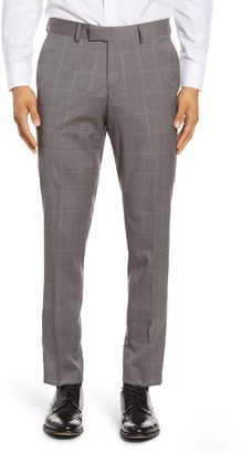Tiger of Sweden Flat Front Windowpane Wool Trousers