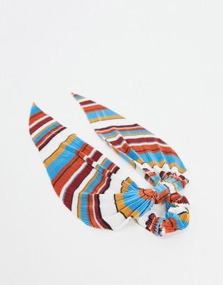 ASOS DESIGN hair scarf in stripe plisse