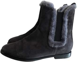 Unützer Anthracite Suede Ankle boots
